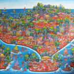 芸術の村、ウブドで絵をオーダー!